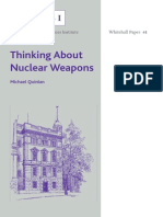 Thinking About Nuclear Weapons - Michael Quinlan