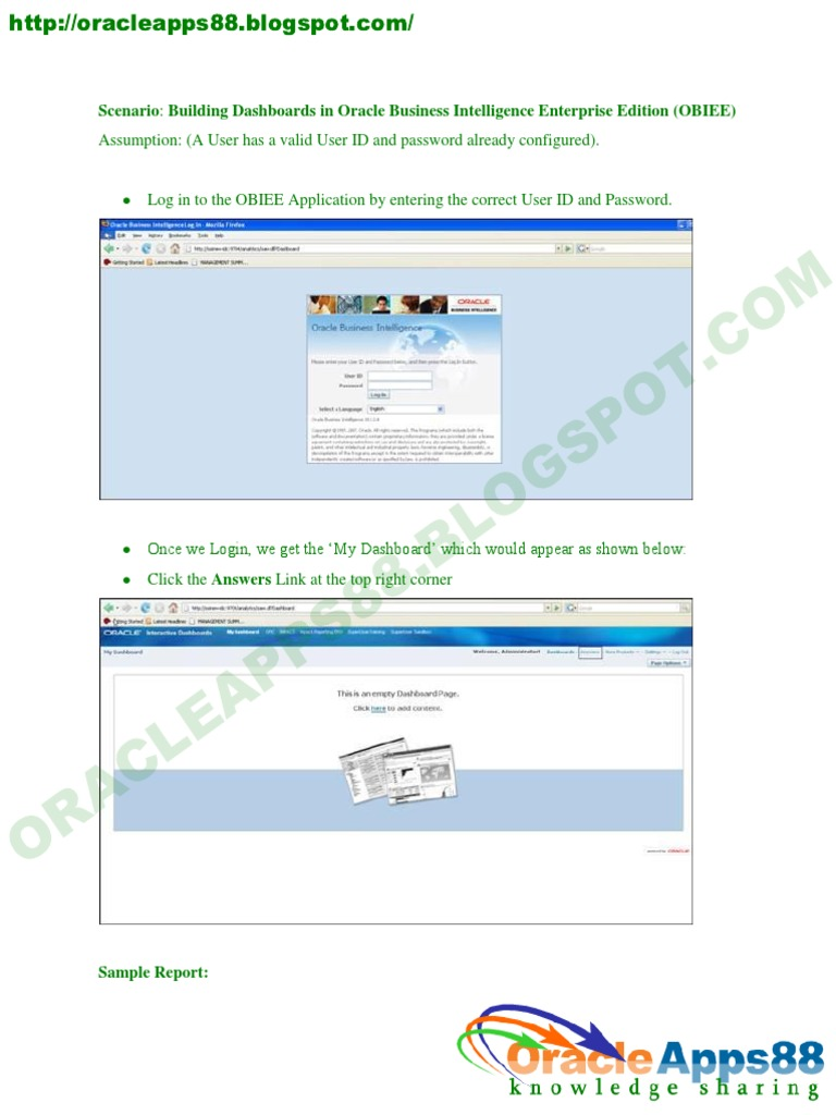 How to Build Report on OBIEE | Exchange Rate | Information