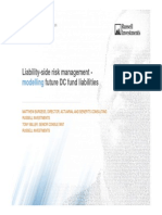 Liability Side Risk Management Modelling for Future DC Funds