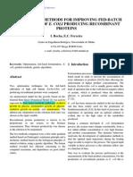 Ecoli Protein Fermentation Optimization
