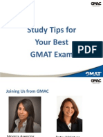 Study Tips for Your Best GMAT Student Handout