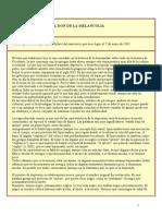 SATURNO Y EL DON DE LA MELANCOLÍA