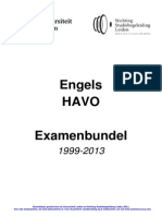 Examenbundel Opgaven HAVO Engels