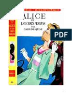 Caroline Quine Alice Roy 16 IB Alice Et Les Chats Persans 1939