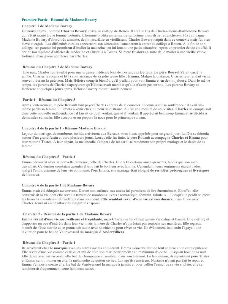 Magnificent Resume Madame Bovary Photos - Resume Ideas - namanasa.com