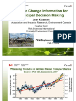 Climate Change Information for Municipal Decision Making