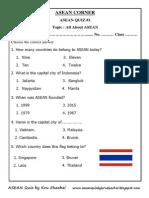 Asean Quiz 1