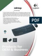 Logitech Deluxe 660 Cordless Desktop