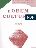 Revista Forum cultural,  anul IV, nr. 2, iunie 2004 (13)
