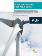 Common Concerns About Wind Power