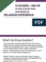 Religious Experiece