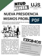 Nueva presidencia, mismos problemas, Boletín #1, Octubre 2013