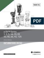 Technical Catalogue eSV-SpecialVersion 50-60Hz