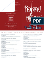 Pensieri e Parole programma 2009-2010