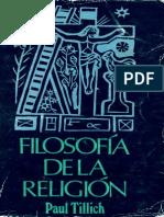 Filosofía de la Religión-Paul Tillich