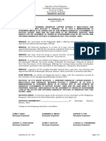 Brgy Reso Availment of Honorarium Loan