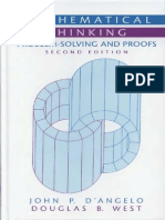D'Angelo, West - Mathematical Thinking Problem Solving and Proof (2nd Ed, 2000)