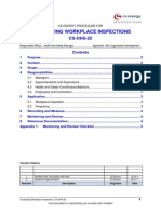 SOP Workplace Inspections