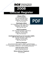 ASCE Official Register 2008