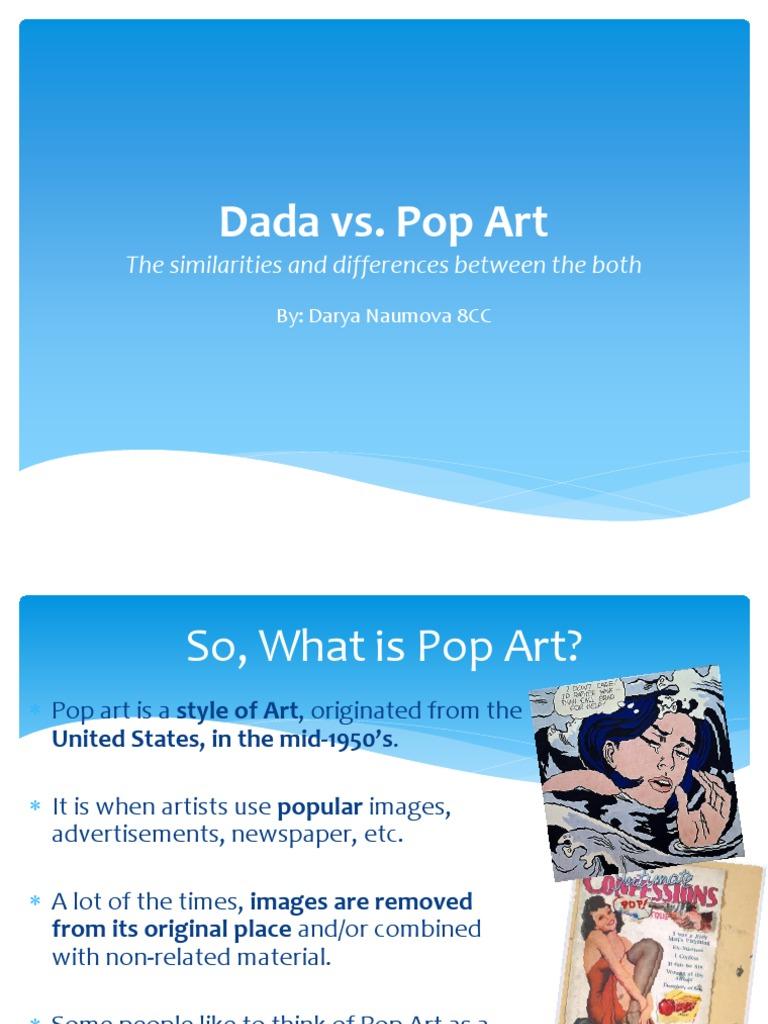 dada vs pop art | Aesthetics | Communication Design