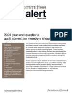 2008 Year End Questions AC Members Should Be Asking