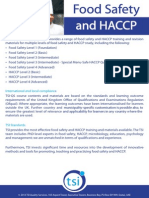 TSI Food Safety and HACCP Overview