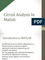Circuit Analysis in Matlab
