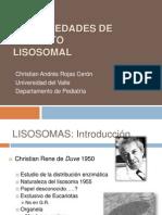 Enfermedades de Deposito Lisosomal