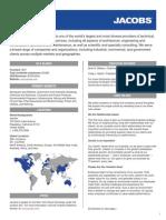 Jacobs Company Fact Sheet 2013
