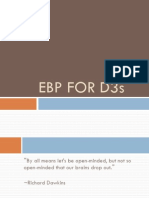 EBP for D3s 2013-14