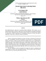 INTERNATIONAL JOURNAL OF ORGANIZATIONAL BEHAVIOR IN EDUCATION, 2(1) 2014 - Badgett-Kritsonis Supervision Leadership Model