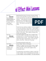 Cause and Effect Mini Lesson