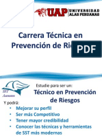 Carrera técnica Prevencionista de Riesgos 2014