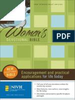New Women's Devotional Bible, NIV, Excerpt