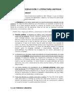 UNIDAD 1 Introduccion y Literatura Antigua