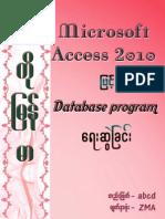 Microsoft Access 2010 Database