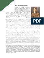 BIOGRAFÍA RESUMIDA DE ADOLFO HITLER