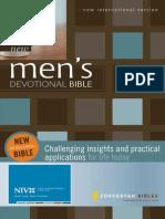 New Men's Devotional Bible, NIV, Excerpt