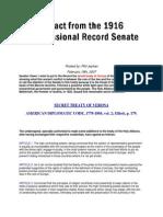 Secret Treaty of Verona - Extract From the 1916 Congressioal Record