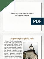 Tehnica Portretului in Cronica Lui Grigore Ureche