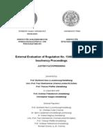 Evaluation Insolvency En