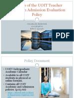 educ 5305g charlie berger policy analysis