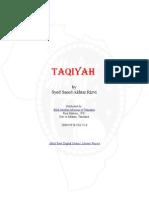 Sayyid Saeed Akhtar Rizvi - Taqiyah