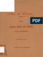 1931 - Libro de Cocina - ARIAS de Apraiz, Elvira