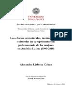 Tesis Mujeres Parlamentarias America Latina