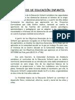 OBJETIVOS DE EDUCACIÓN INFANTIL