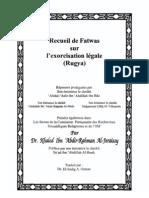 Recueil de fatwas sur l'exorcisation légale