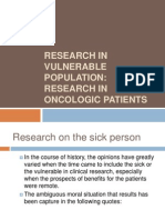 6 Research Vulnerable Populations Research Oncologic Patients
