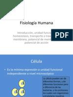 Fisiología de la membrana 2013