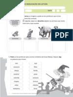 Fichas de reeducação em dislexia